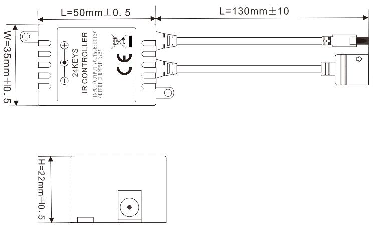 24键RGB红外LED控制器