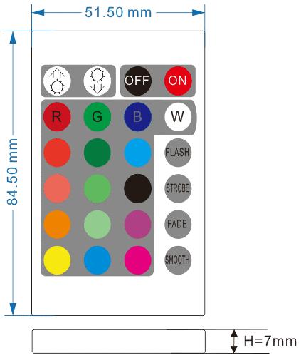 24键RGBW红外LED控制器